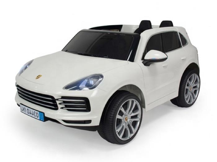 Porsche Cayenne Wit 2 Persoons Elektrische Kinderauto Kidsautodealer